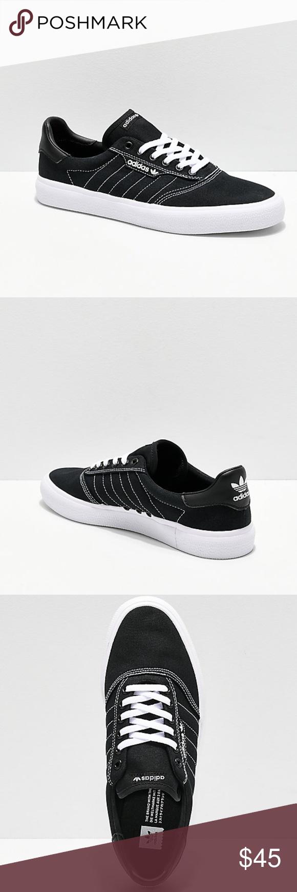 Mens adidas 3MC Black \u0026 White Contrast