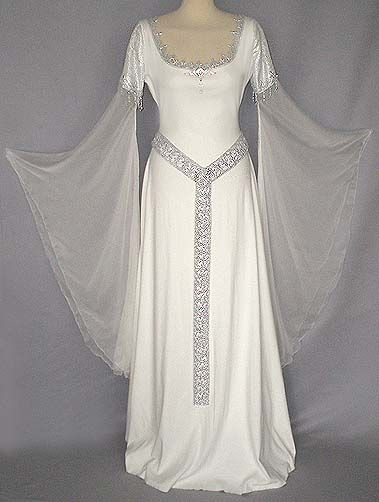 White medieval gown with transparent sleeves | Arial | Pinterest ...