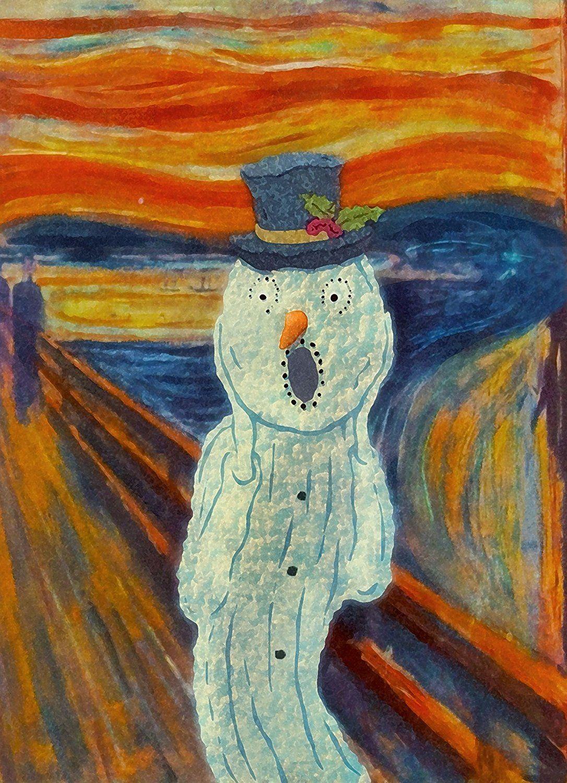 Snowy Scream Edvard Munch The Scream Art