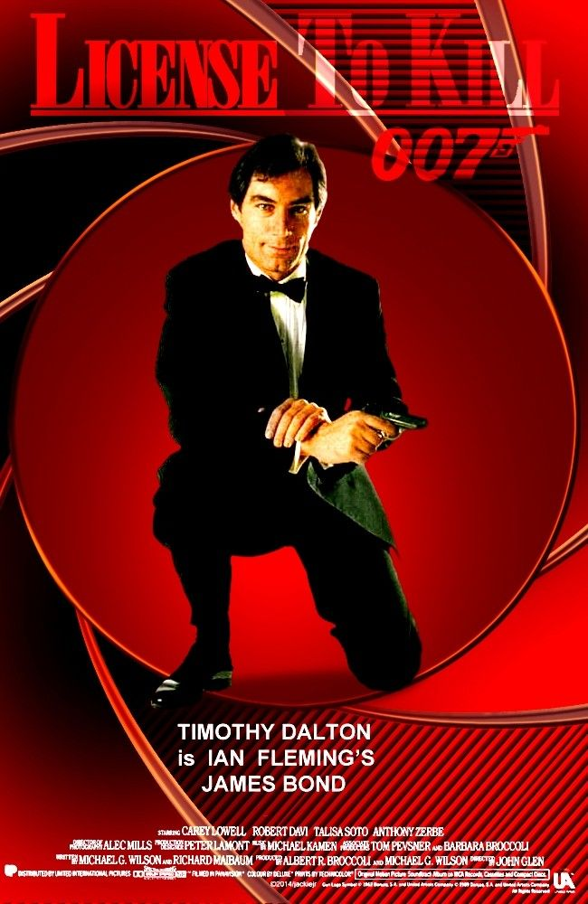James Bond 007 Licence To Kill 1989 Timothy Dalton