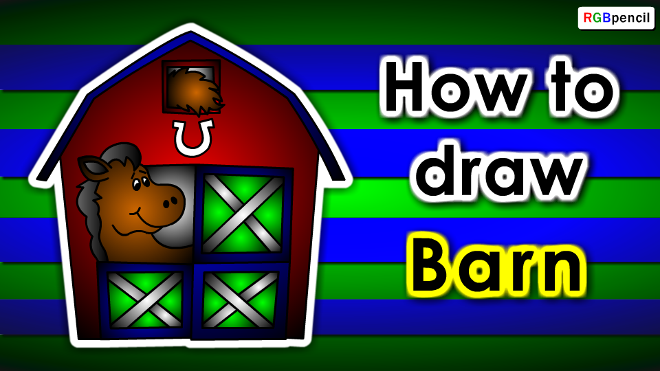 How To Draw Barn For Kids Drawings