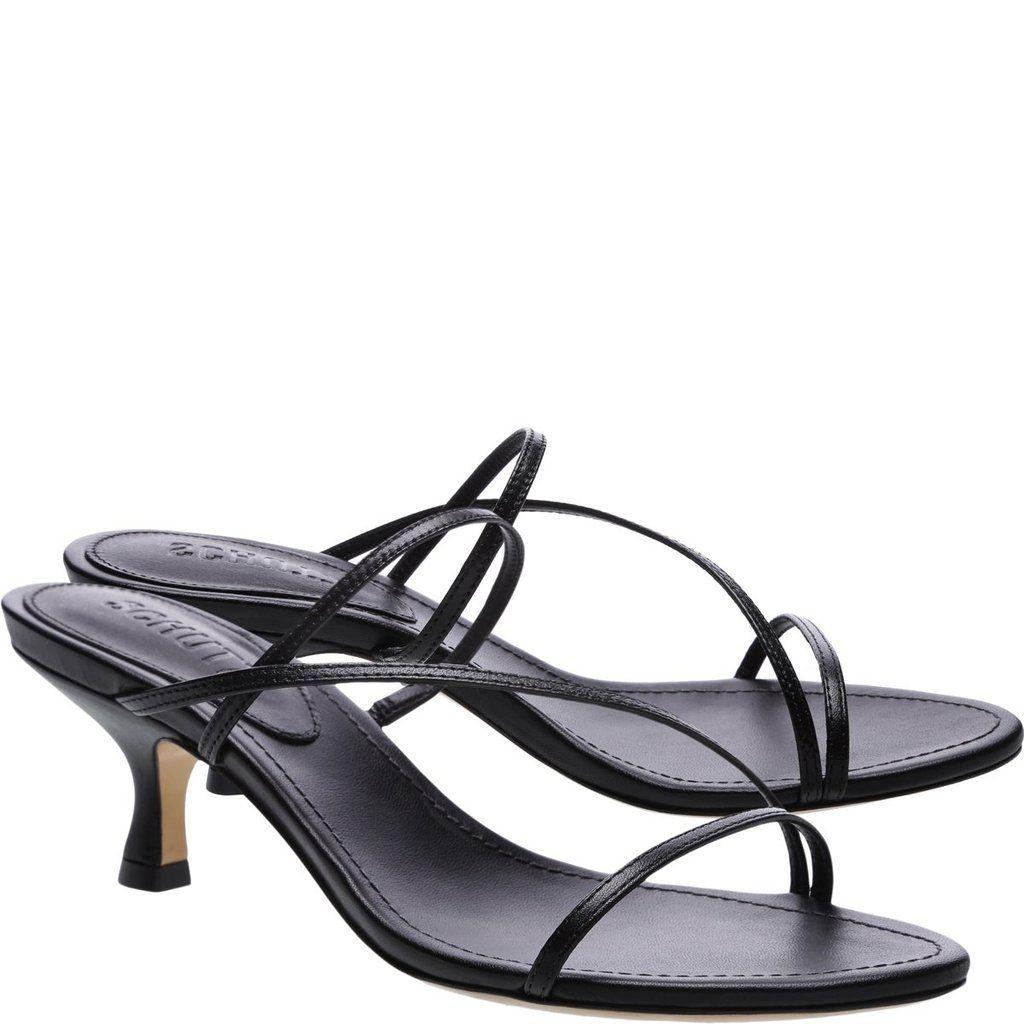 Evenise Kitten Heel Mule Sandal Schutz Shoes Schutz Sandals Sandals Heels Fashion Heels