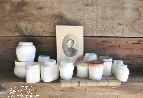 4bfd157c484e old milk glass cosmetic jars   Decor ~ White   Milk glass, Glass ...