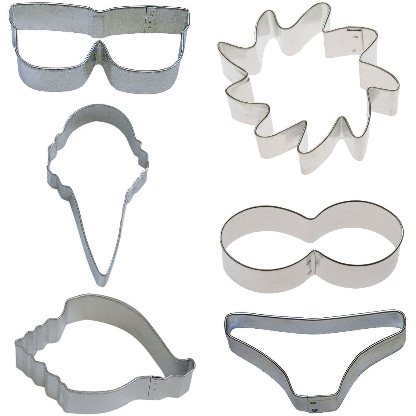 At the Beach Tin Cookie Cutter 6 Pc Set Ktbeach * Instant Savings available here : Baking Accessories