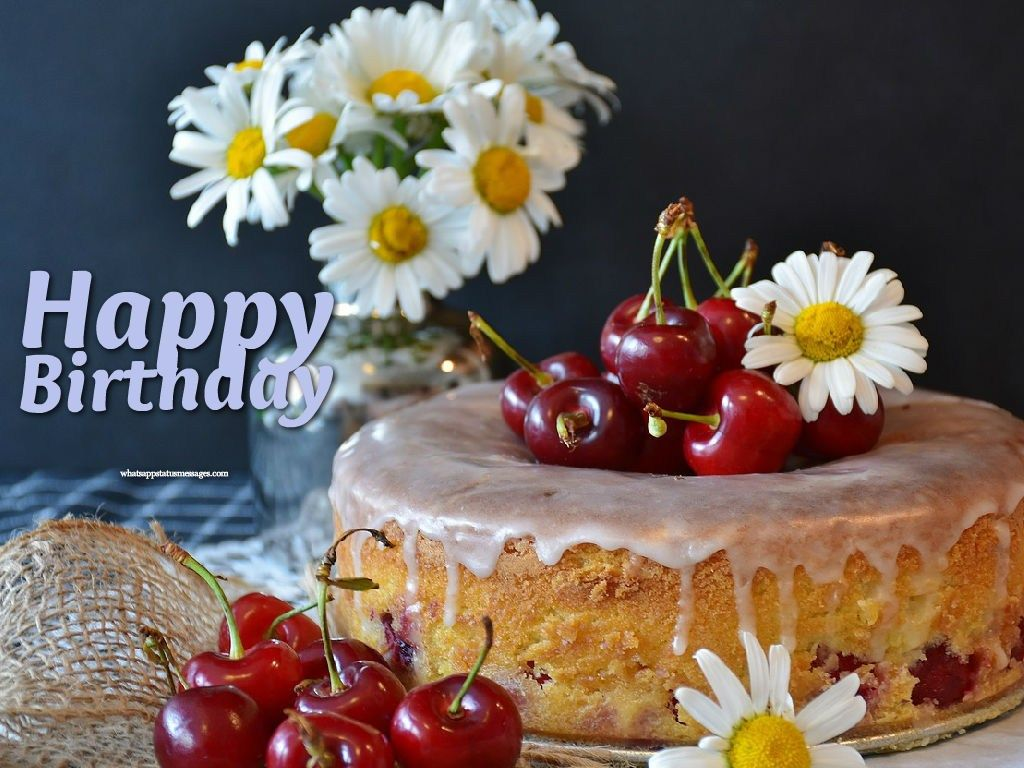 Fabulous 32 Great Image Of Happy Birthday Cake And Flowers Happy Funny Birthday Cards Online Alyptdamsfinfo