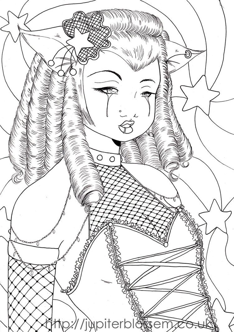 Adults gothic fairy coloring pages coloring pages for adults