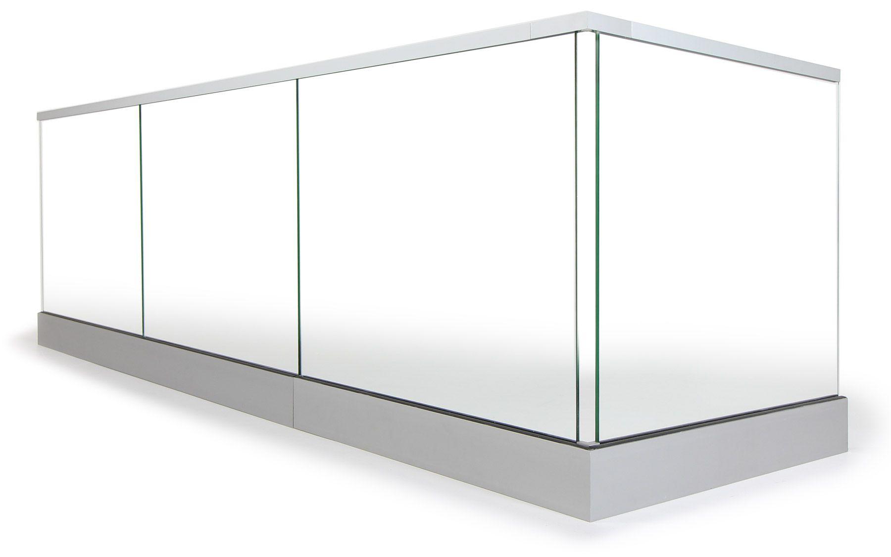 Ganzglasgelander Nach Mass Konfigurieren Amp Bestellen Gelanderladen Glasgelander Balkon Satiniertes Glas Glas