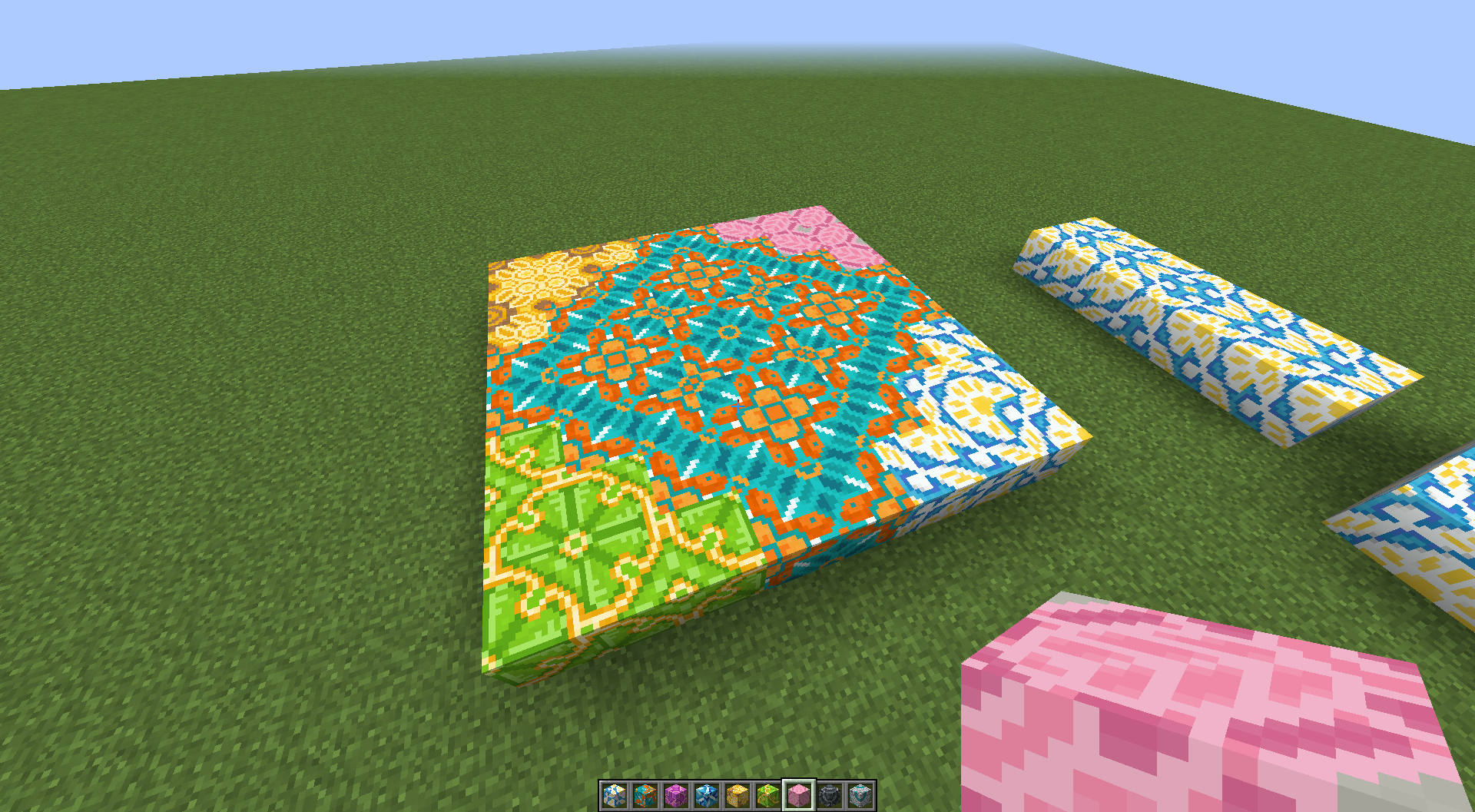 Found a nice pattern while trying to combine different terracotta ...