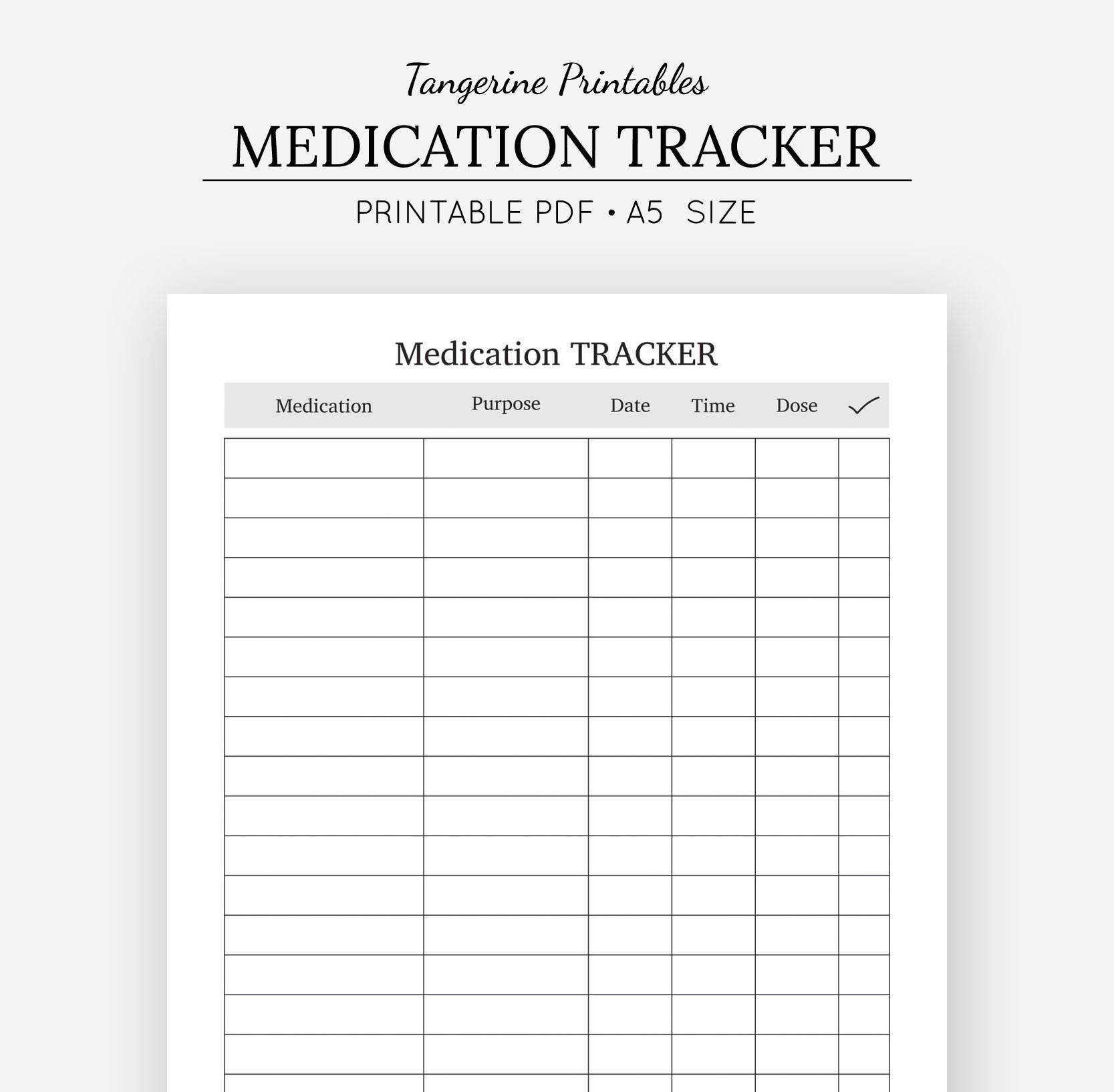 Medication Tracker Medication Chart A5 A4 Us Letter Half Etsy Medication Chart Medication Tracker Medication Chart Printable