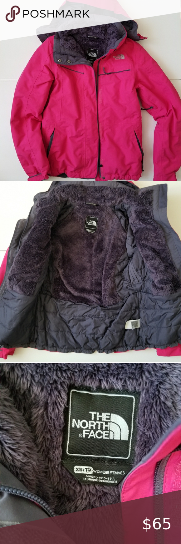 Pink Womens XS North Face Coat Pink Womens XS Nort