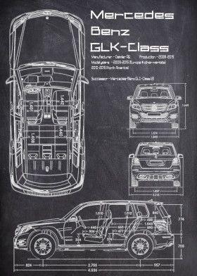MercedesBenz GLK Class | Displate thumbnail