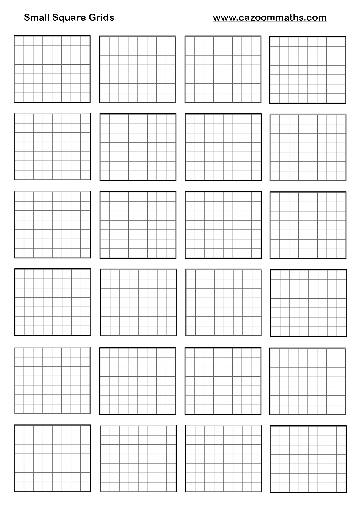 Small Square Grids