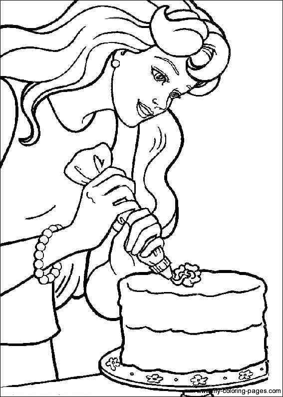 Strainght Hair Colouring Pages Barbie Coloring PagesFree