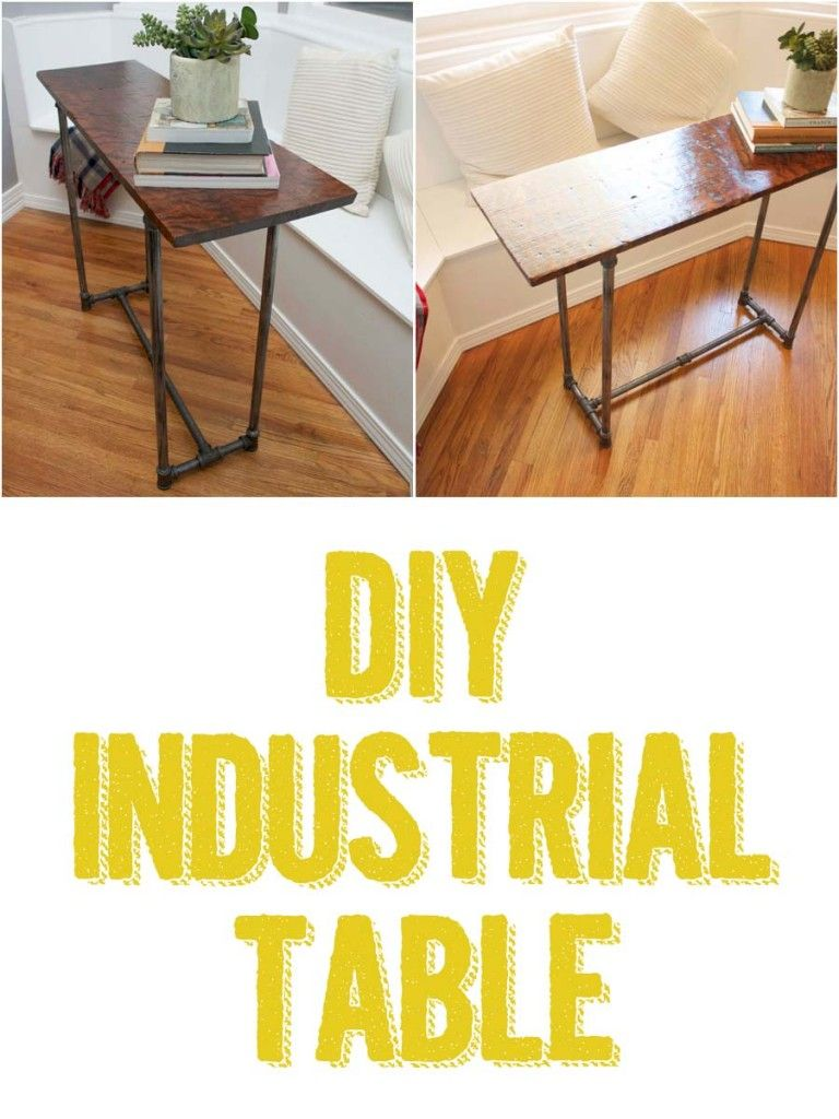 Industrial table diy home pinterest industrial table