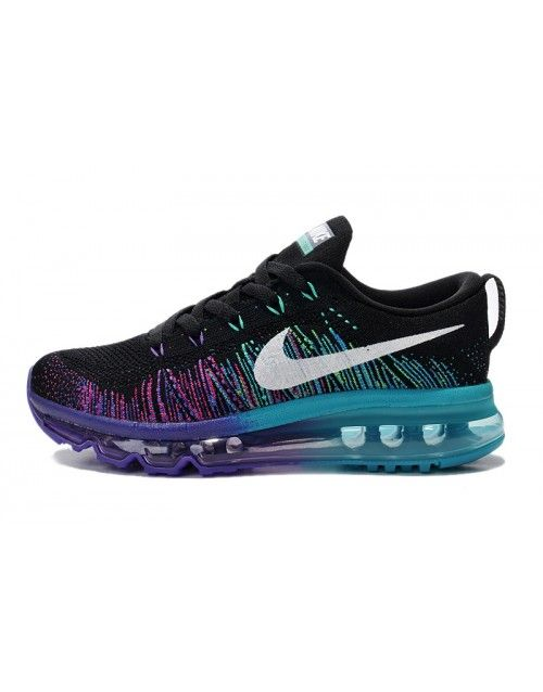 outlet store 3b7b2 3b05a Nike Women s Air MAX Flyknit Runing Shoes Black and Purple 408C