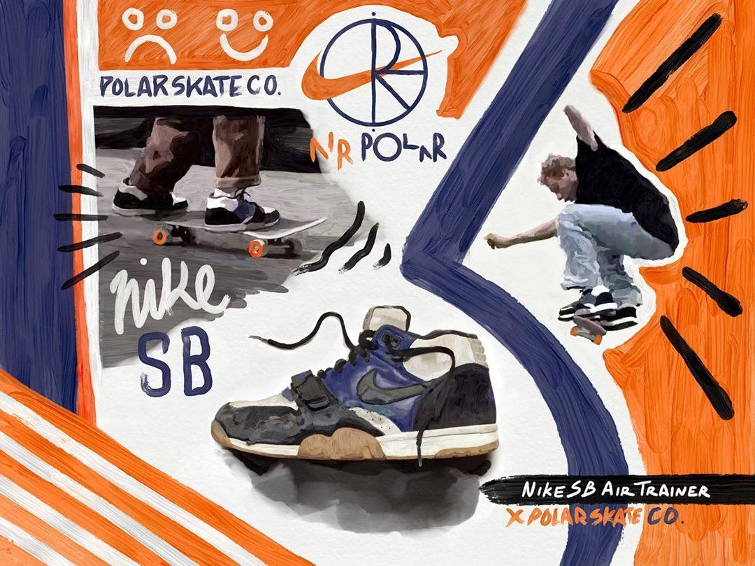 Nike SB Air trainer x polar skate co