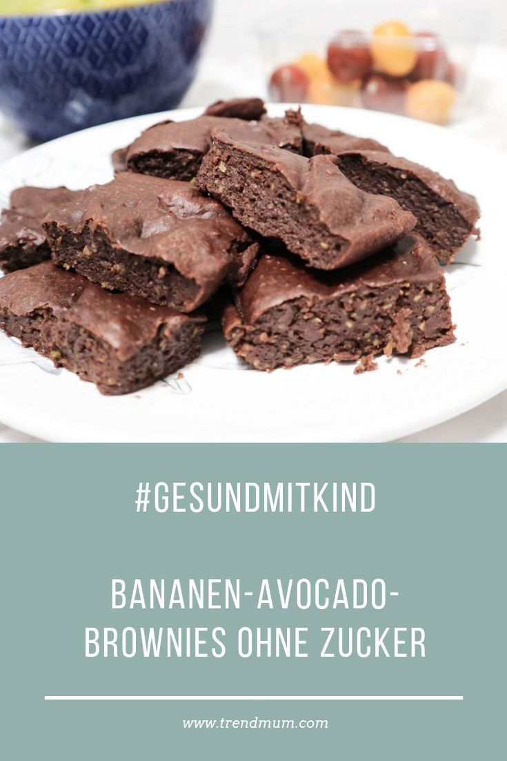 #hidingvitamins - Bananen Avocado Brownies - ohne Zucker - trendmum