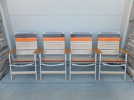 Superbe Folding Web Lawn Chairs Aluminum