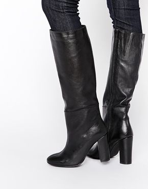 sale retailer cd468 08cef Warehouse Knee High Heeled Boots | Shoes | Stivali con tacco ...