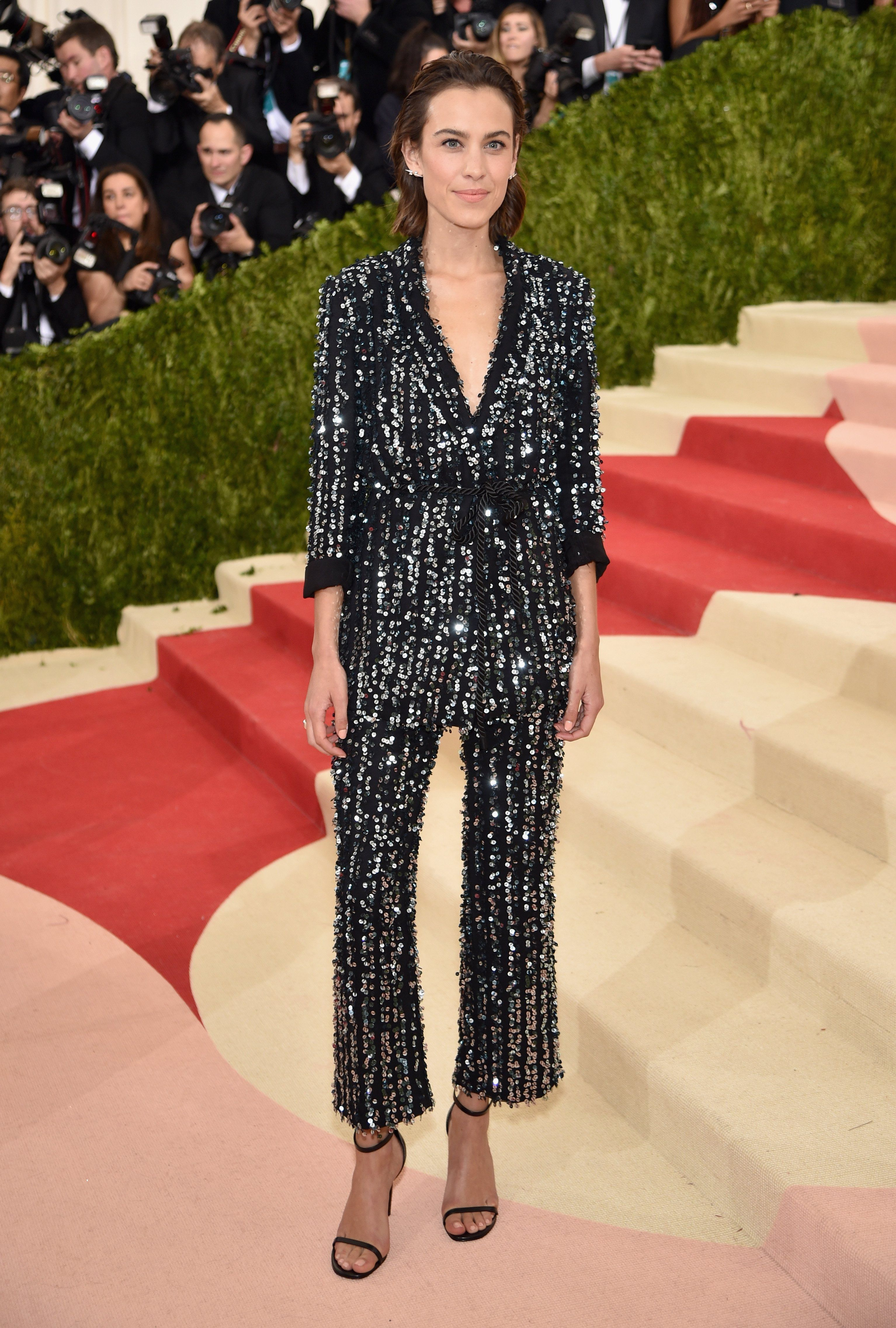 Met ball alexa owns it trousers fashion pinterest formal