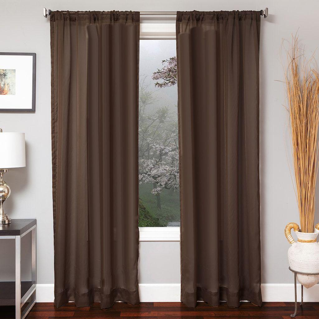 Softline 1 Panel Cosimo Window Curtain Dark Brown 55x96