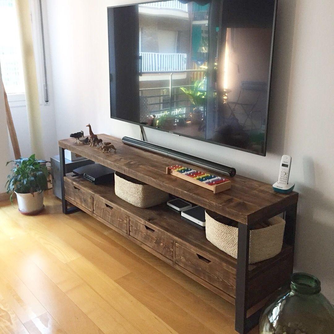 Mueble Tv Estilo Industrial Fabricado A Medida Muebles Para Tv