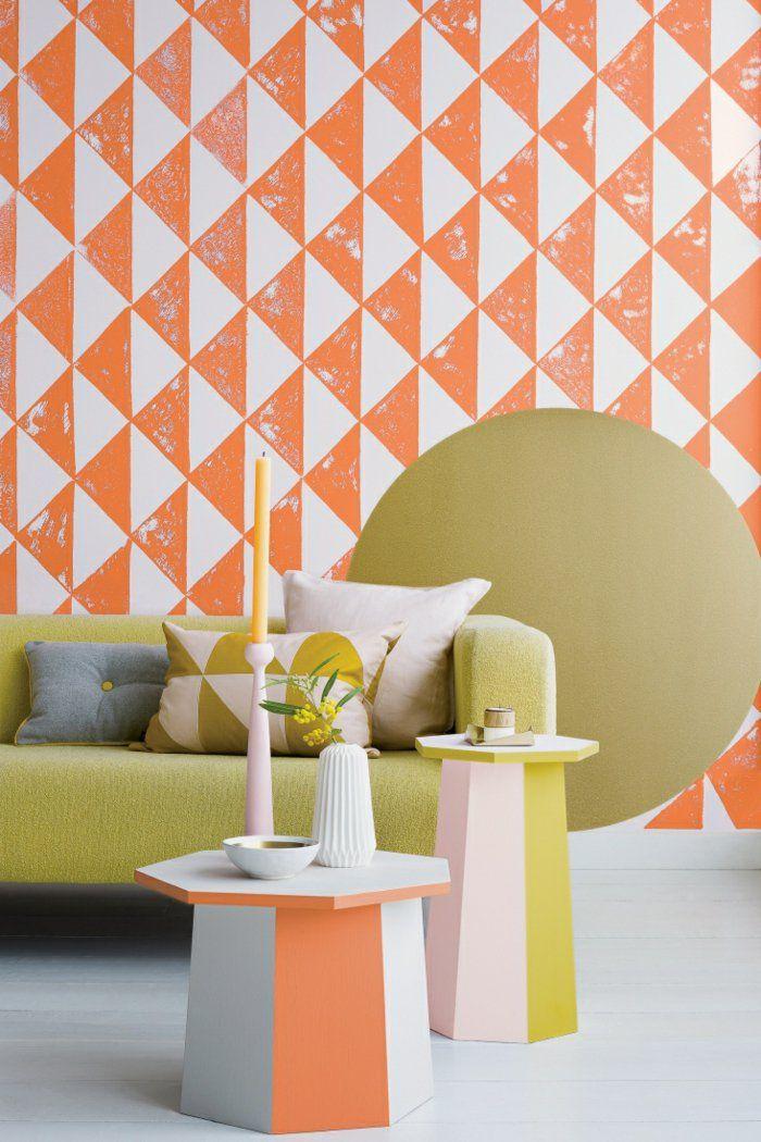 Farbkombinationen Ideen Farbe Ocker Wandgestaltung Ideen
