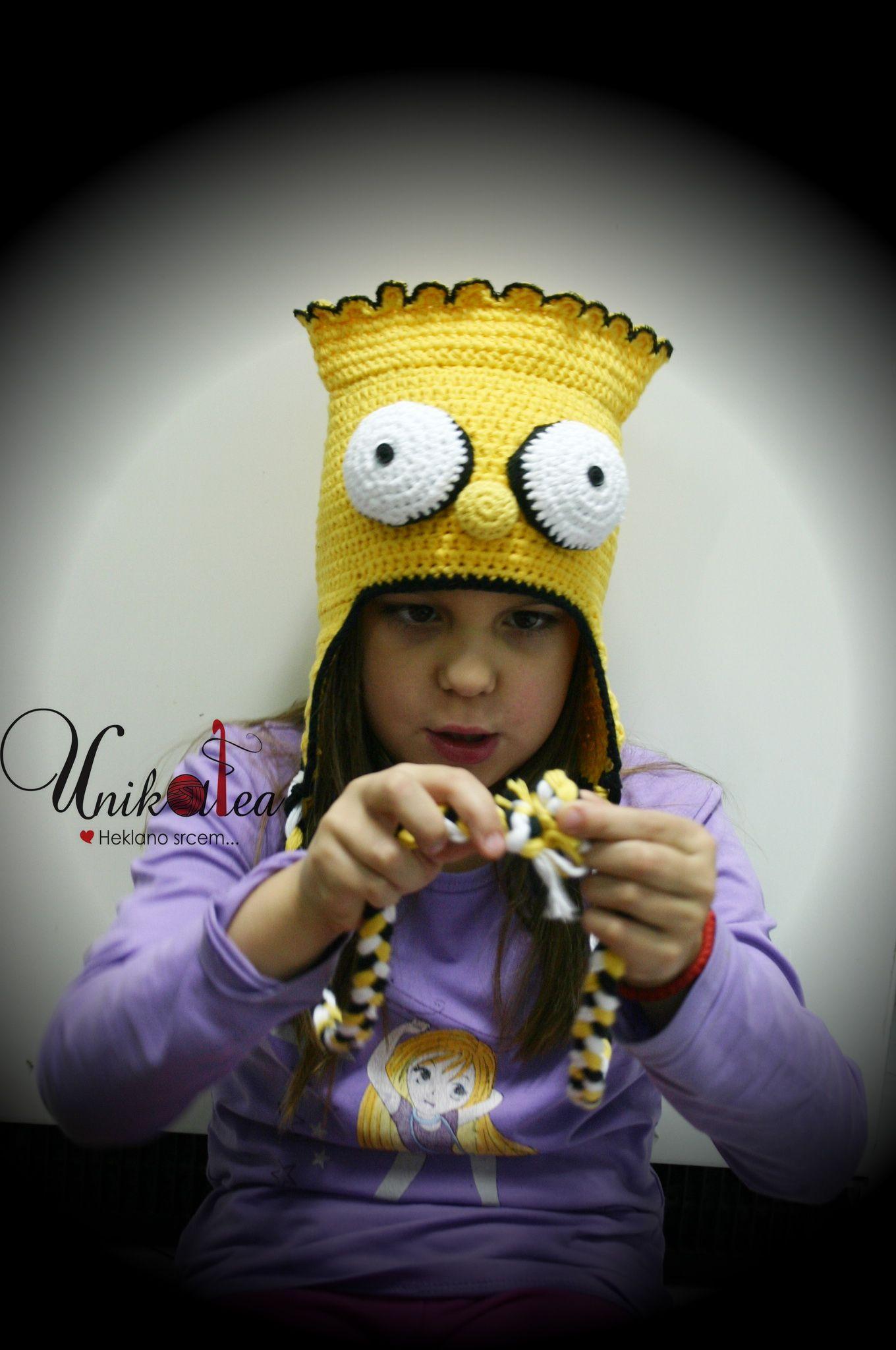 Bart Simpson crochet hat | Children\'s hats by Unikatea | Pinterest ...