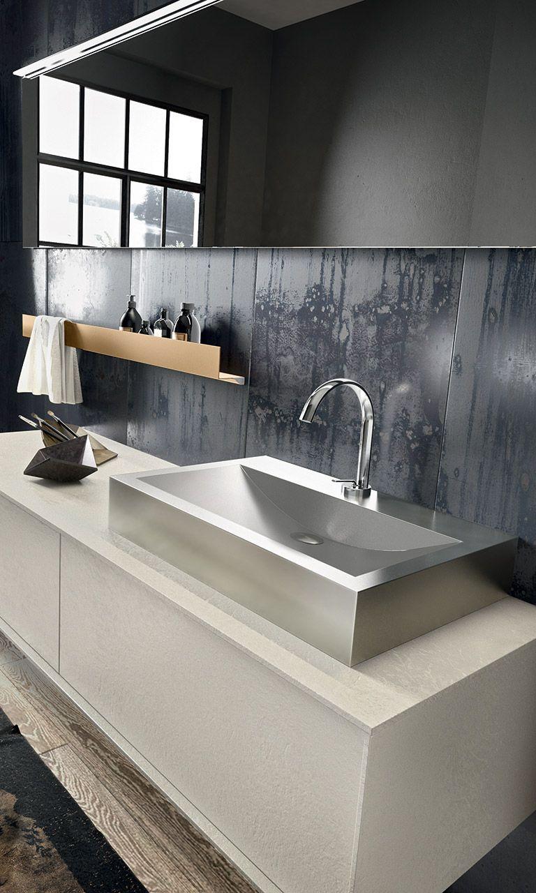 Mobile Bagno New York collezione regolo by edoné design - 14 - tagli geometrici