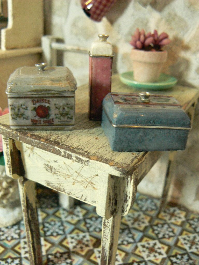 Kitchen jars dollhouse 112 scale Kitchen jars