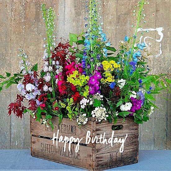 Happy Birthday Janet With Images Happy Birthday Flower Happy