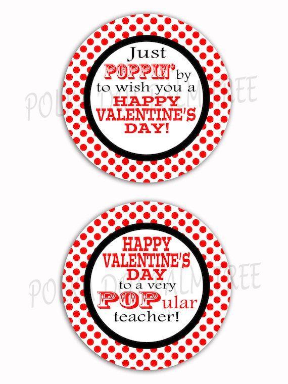 DIY Printable Red Polka Dot Just Poppin By Valentine\u0027s Day Treat Bag