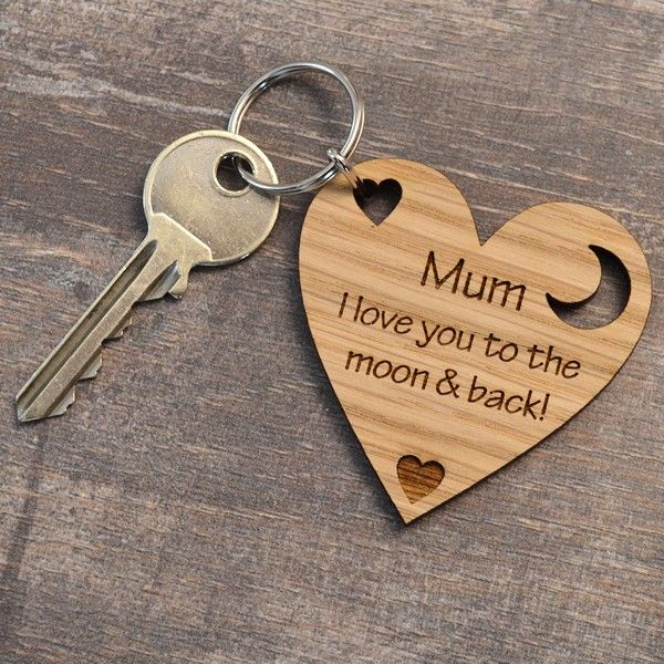 I Love You To The Moon And Back Mothers Day Present Gift For Mum Mummy Keyring  Pretty Personalised