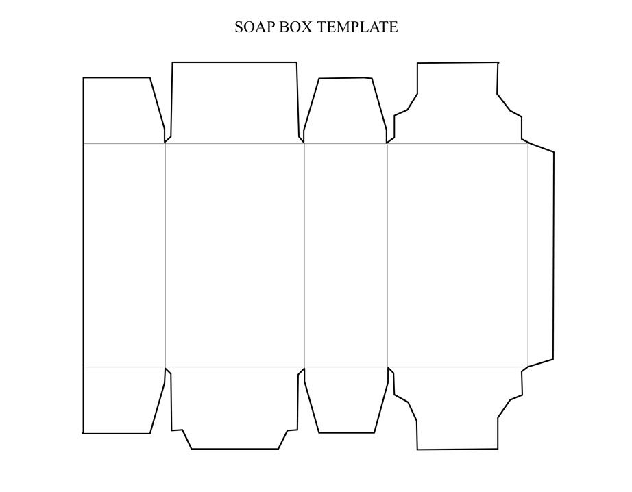 Soap Box Template Jpg   Packaging    Box
