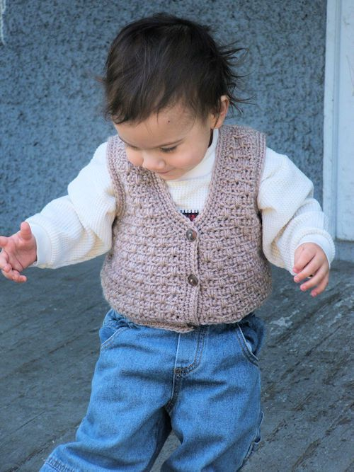 Atta Boy Vest For Baby Free Crochet Pattern Cute Baby Clothes