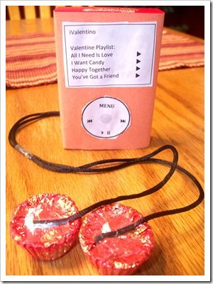 Easy conversation heart 'iPod' for Valentine's Day
