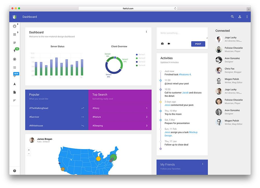 materil-material-design-admin-template Dashboard UIs Pinterest - lms administrator sample resume