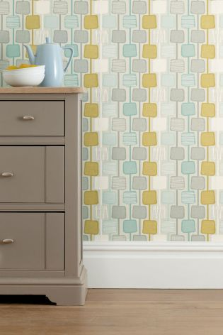 Buy Teal Square Geo Wallpaper Online Today At Next Rep Of Ireland