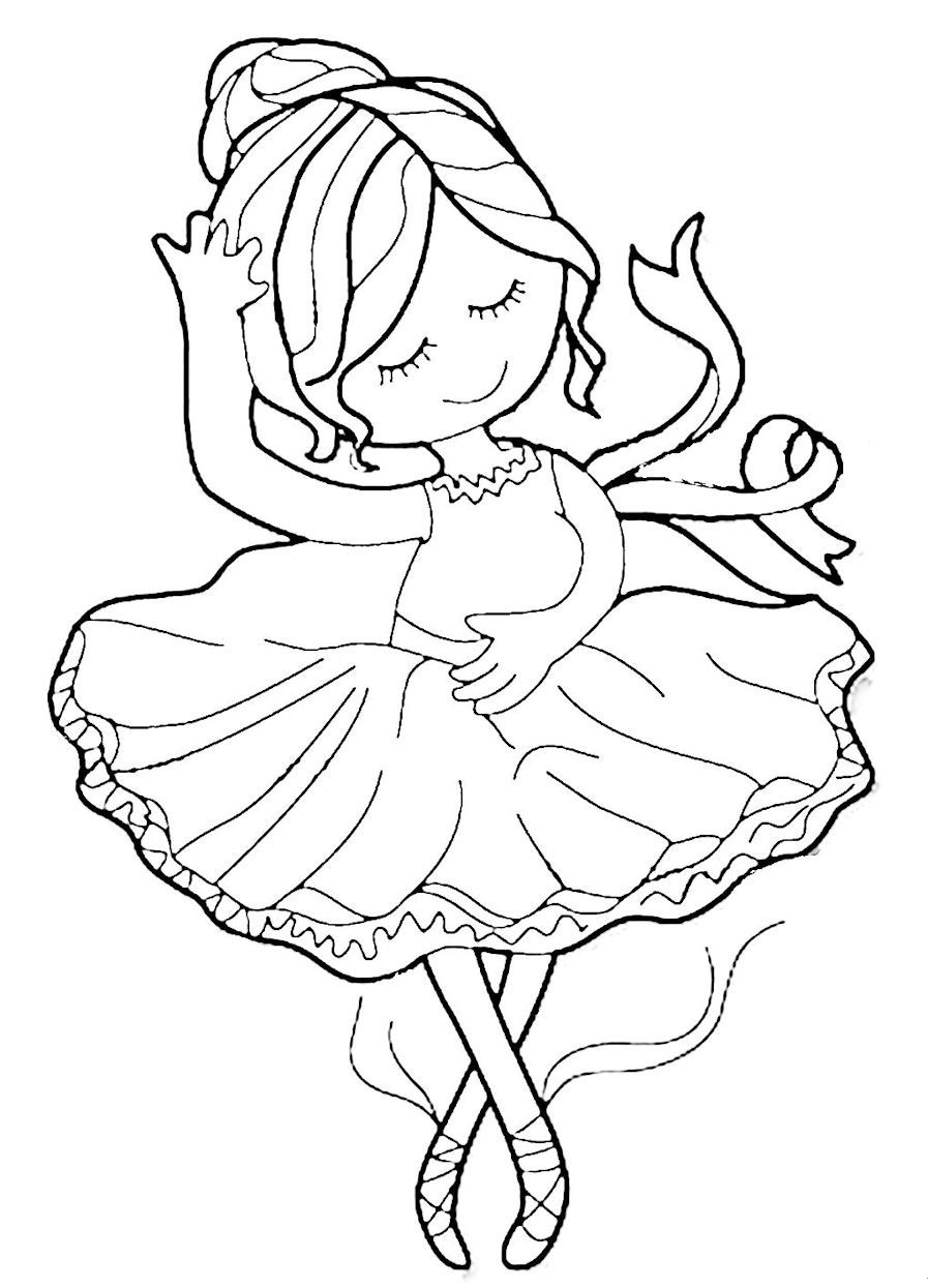 Ella the Ballerina | Ballerina coloring pages, Dance ...