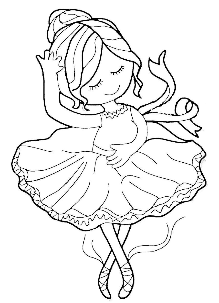 Ella the Ballerina Dance coloring pages Ballerina