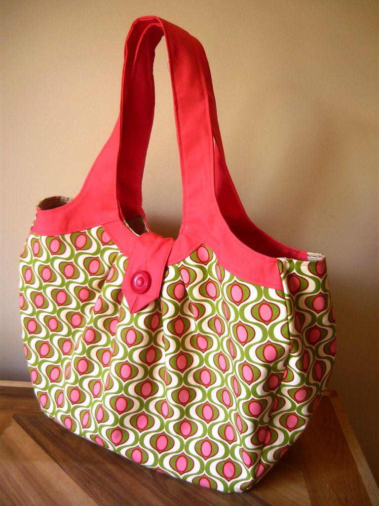 Amy Butler Cosmo Bag | Sewing | Pinterest | Stoffe, Körbchen und Puppen