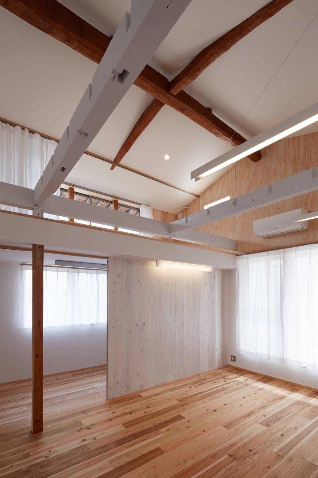 農業用倉庫が4人家族の快適な住宅へ生まれ変わったリノベーション
