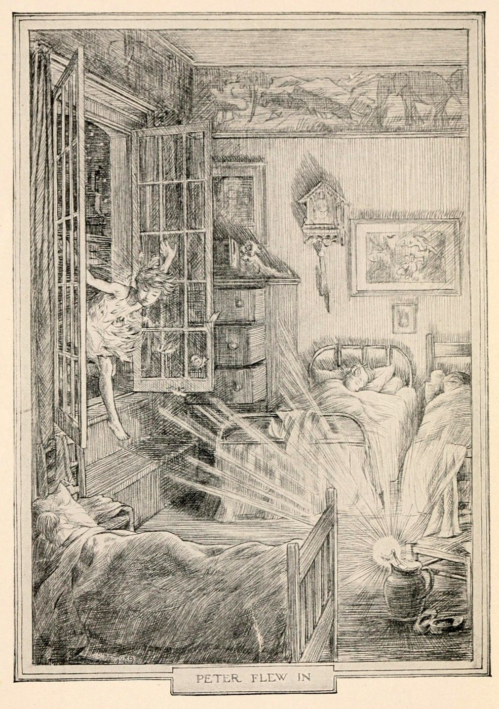 illustration for \'peter and wendy\' by francis donkin bedford ...