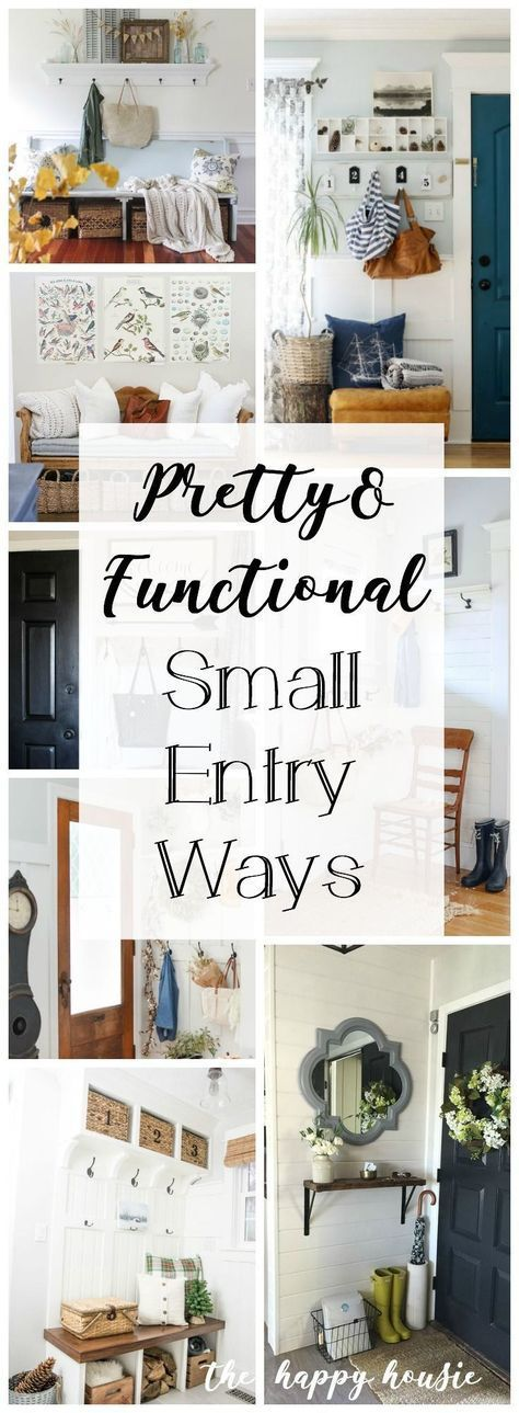 Pretty & Functional Small Entry Ways | The Happy Housie