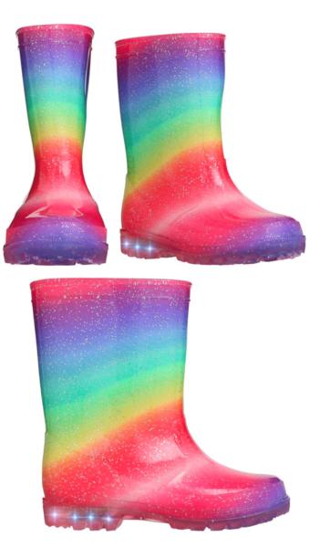 Kids Rainbow Light Up Wellies £9