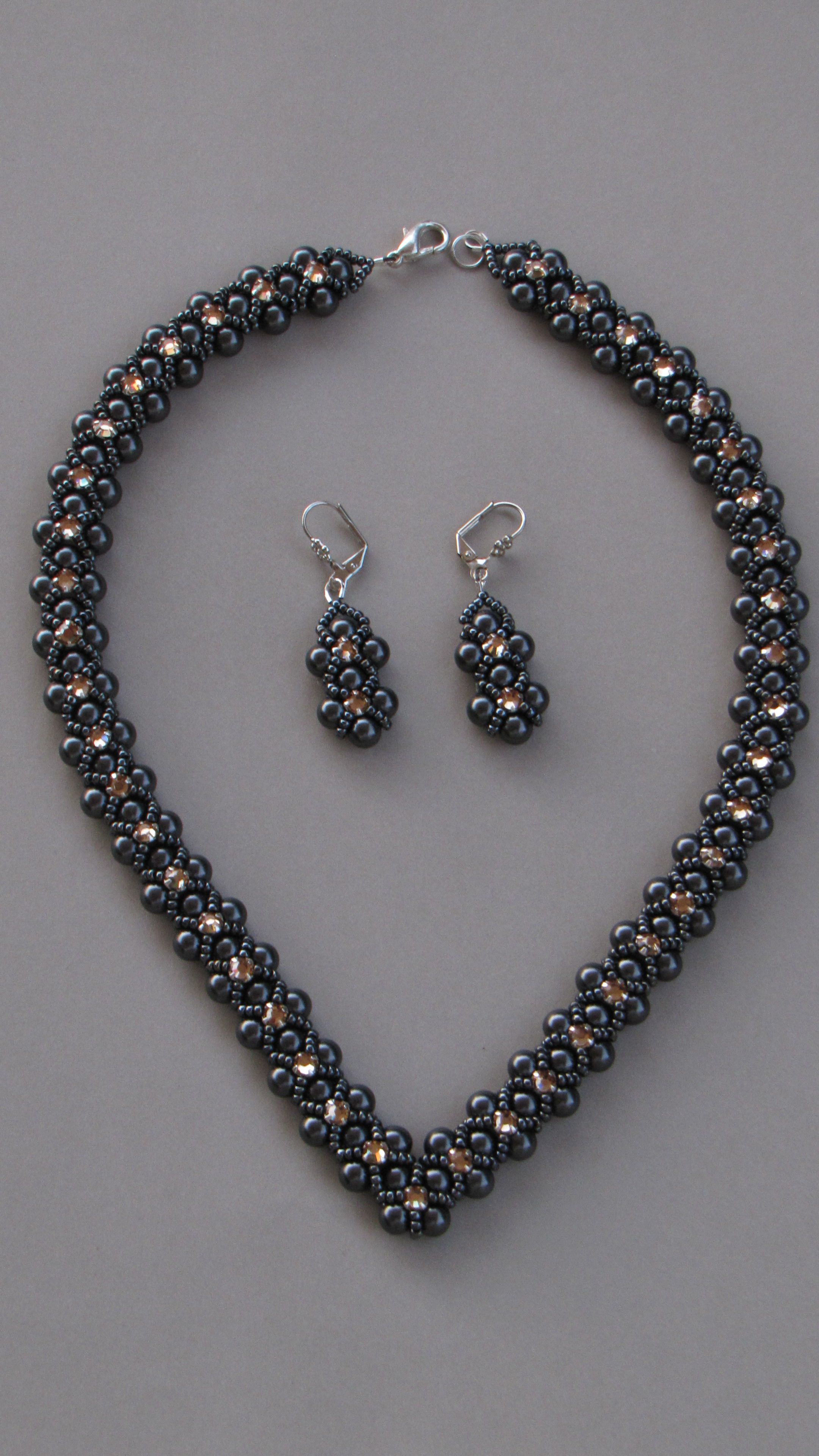 crystal clay of pin swarovski polymer beads jewellery necklaces