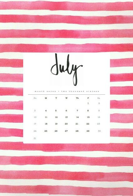 Calendar Wallpaper July : July calendar wallpaper pinterest