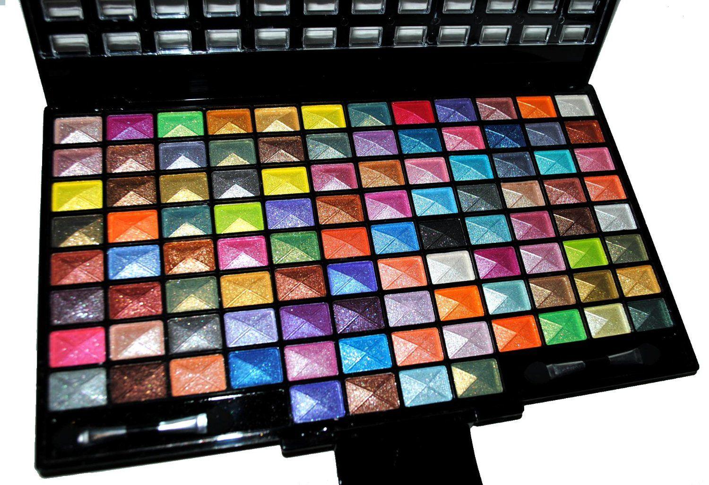 Elegant 100 Piece Glitter Eyeshadow Makeup