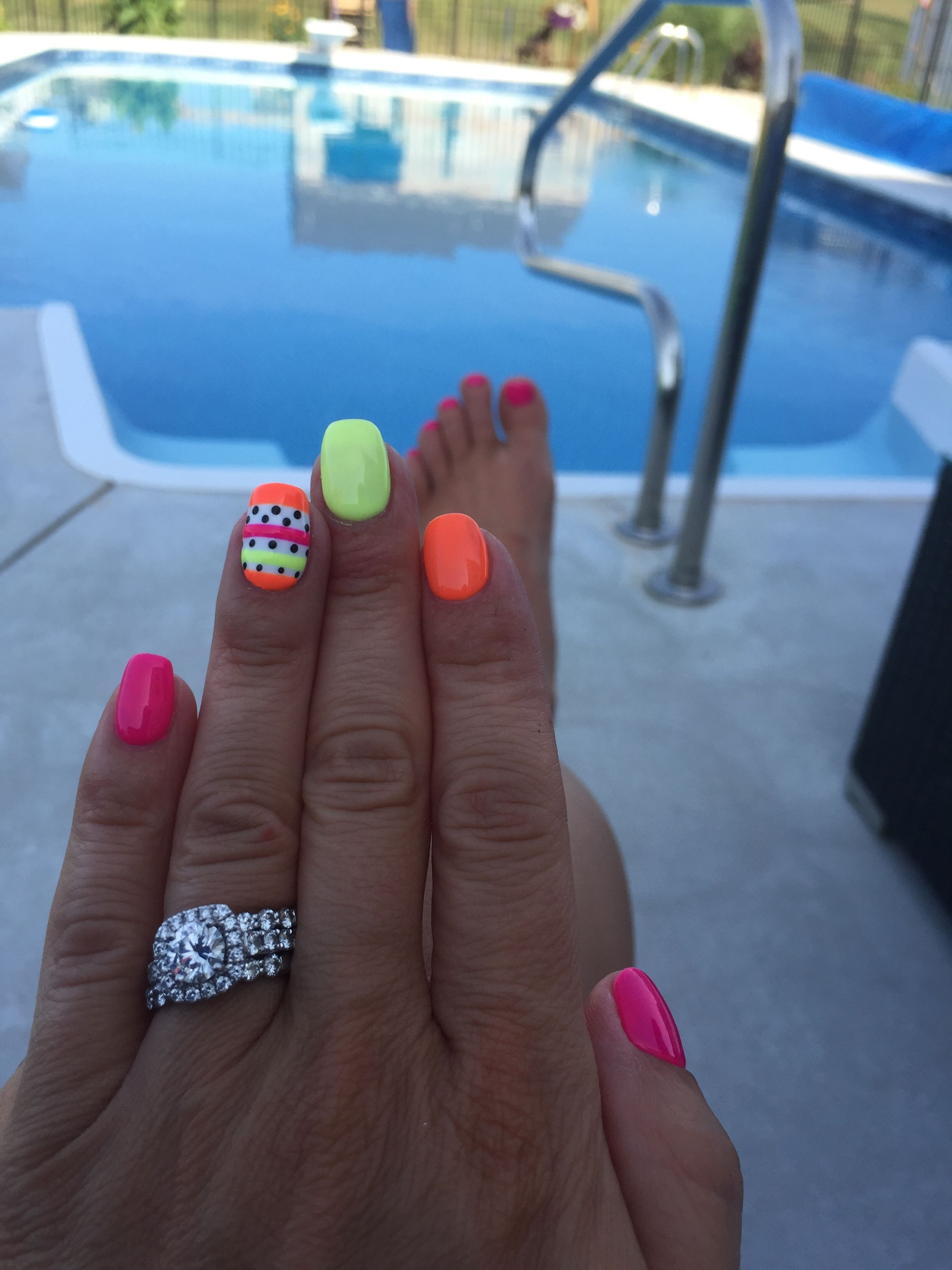 I Love Neon Nails Gel Nails Toe Nails