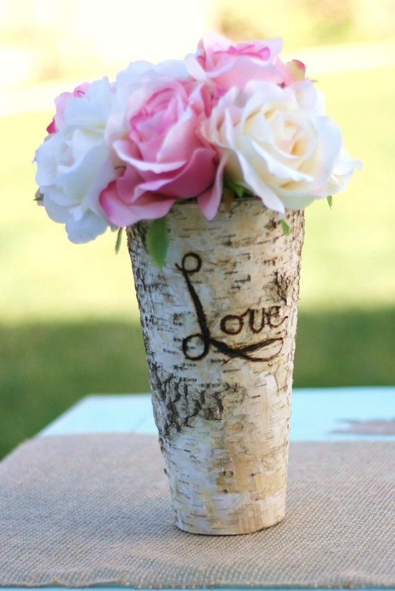 A Great Vase For A Rustic Wedding From My Favorite Etsy Shop